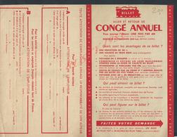 SNCF ( CHEMIN DE FER ) DEMANDE DE BILLET ALLER & RETOUR CONGÉ ANNUEL VIERGE : - Titres De Transport