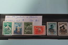 1934     -   476A  à  476F *    3ème  JAMBOREE  DE  MAMAÏA  :  60,00€ - 1918-1948 Ferdinand, Charles II & Michael