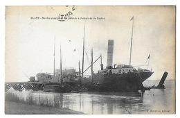 BLAYE   Navire Chargeant Du Pétrole   (recto-verso) - Blaye