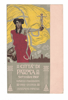 CARTOLINA POSTALE CARTE POSTALE  CITTA DI PARMA 1907  Illustratore  MAGRINI - Pubblicitari