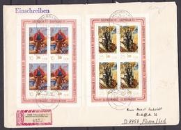 DDR - 1977 - Michel Nr. 2247/48 - Kleinbogen - Einschreiben - FDC - 25 Euro - DDR