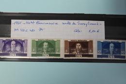 1935     -   477  à  480 *    150ème  ANNIVERSAIRE  DE  LA  REVOLTE  EN  TRANSYLVANIE     COTE   :  6,00€ - 1918-1948 Ferdinand, Charles II & Michael
