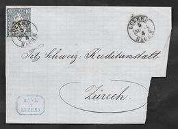 1862 10c. HELVETIA LUZERN NACHM - 1862-1881 Helvetia Seduta (dentellati)