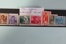 1936     -   498  à  504 *    6ème  ANNIVERSAIRE  AVENEMENT D E  CHARLES  II     COTE   : 10,00€ - 1918-1948 Ferdinand, Charles II & Michael