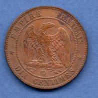 Napoléon III / 10 Centimes 1855 D Ancre / TB - France
