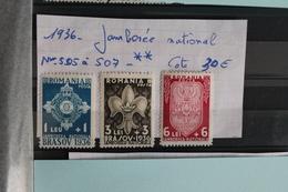 1936     -   505  à  507 *    JAMBOREE  NATIONAL  DE  BRASOV     COTE   : 22,00€ - 1918-1948 Ferdinand, Charles II & Michael