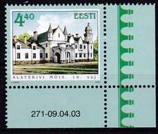 2003, EESTI, 461, Gutshöfe: Gut Alatskivi. MNH ** - Estonie
