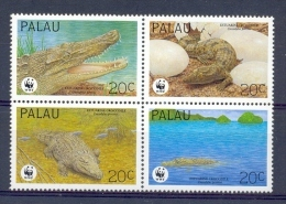 Mzn159s WWF FAUNA REPTIELEN KROKODIL REPTILES ESTUARINE CROCODILE PALAU 1994 PF/MNH - W.W.F.