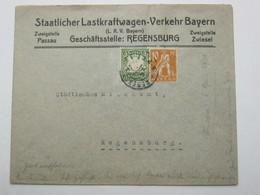 1920 ,  REGENSBURG  , Firmenbrief - Bavière