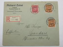 1922 , LIEGNITZ  , Firmenbrief Als Einschreiben - Germany