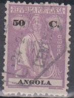 Angola Ceres 2: Mi 217Cx 50 C Violett Gestempelt - Angola