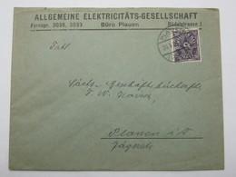 1922 , PLAUEN  , Firmenbrief - Deutschland