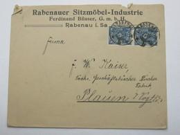 1922 , RABENAU   , Firmenbrief - Deutschland