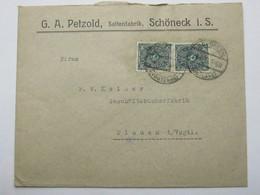 1923 ,  SCHÖNECK   , Firmenbrief - Deutschland