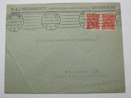 1922  , MANNHEIM   , Firmenbrief - Deutschland