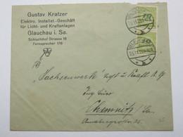 1923  , GLAUCHAU   , Firmenbrief - Germany