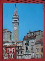 Piran / Pirano: Glockenturm / Tartini Denkmal - Slovénie