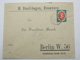 1921 , BROMBERG   , Firmenbrief - Lettres & Documents