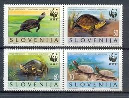 Ncw192s WWF FAUNA REPTIELEN SCHILDPAD REPTILES TURTLE SCHILDKRÖTEN SLOVENIJA 1996 PF/MNH - Schildpadden