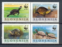Ncw192s WWF FAUNA REPTIELEN SCHILDPAD REPTILES TURTLE SCHILDKRÖTEN SLOVENIJA 1996 PF/MNH - Tortues