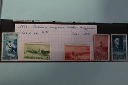 1938     -   547  à  551 **        CENTENAIRE  NAISSANCE  DE  NICOLAIE  GRIGORESCU        COTE   :12,00€ - 1918-1948 Ferdinand, Charles II & Michael
