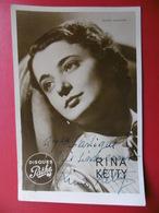 RINA KETTY AUTOGRAPHE DEDICACE CARTE PHOTO DISQUES PATHE - Artistes