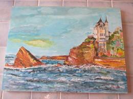 Peinture Sur Panneau 45 X 34 Cm Signer Callonego G  Biarritz - Huiles
