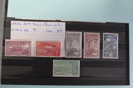 1939     -   581  à  586 *        70ème  ANNIVERSAIRE  DES  CHEMINS  DE  FER        COTE   :8,00€ - 1918-1948 Ferdinand, Charles II & Michael