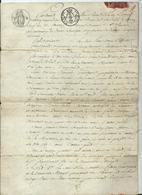 MARIAGE D'UN LIEUTENANT DES DOUANES ROYALES Devant NOTAIRE ROYAL 1822 - Historical Documents