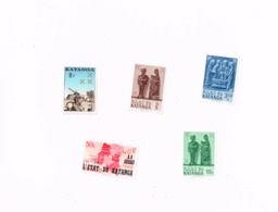 Lot De  5 Timbres MNH,Neuf Sans Charnière,Falzlos.Yvert 41,52,56,57,80 - Katanga