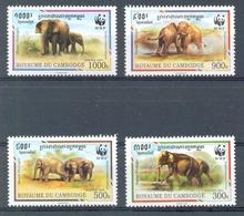 MR214s WWF FAUNA ZOOGDIEREN OLIFANT ELEPHANT MAMMALS ELEFANT CAMBODJA CAMBODGE 1997 PF/MNH - W.W.F.
