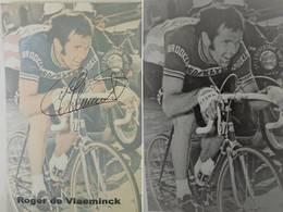 Carte De Roger De VLAEMINCK - Dédicace - Hand Signed - Autographe Authentique - - Cyclisme
