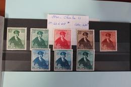 1940     -   611  à  618 *        CHARLES  II     COTE   :    6,00€ - 1918-1948 Ferdinand, Charles II & Michael