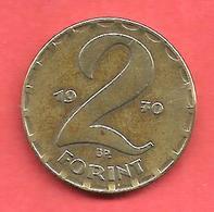 2 Forint , Hongrie , Bronze , 1970 , N° KM # 591 - Hongrie