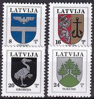 LETTLAND 1995 Mi-Nr. 399/02 II ** MNH - Latvia