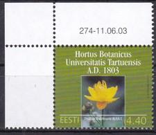 2003, EESTI, 464, Botanischer Garten Der Universität Tartu. MNH - Estonie