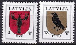 LETTLAND 1996 Mi-Nr. 421/22 I ** MNH - Lettonie