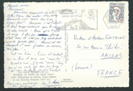 Flamme Du Bureau Auxilliaire Des 2 ALPES EN 1964 AU DOS  D'1 CARTE POSTALE FORMAT MODERNE  - Lwj07 - Marcophilie (Lettres)