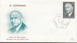 BELGIEN 1477, FDC, Europa-Mitläufer Robert Schuman 1967 - 1967
