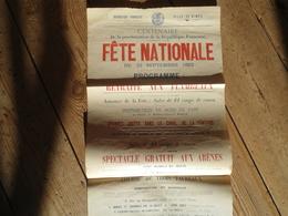 Affiche Centenaire République Française 1892 Nimes - Affiches
