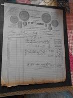 Facture Illustrée 21/12/1881 PETITPIERRE Poterie Pots à Tabac ... DIGOIN Saône Et Loire - 1800 – 1899