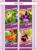 Sierra Leone. 2018 Orchids. (1107a) - Orchidées