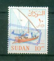 SUDAN / 1988 ? / SCOTT # 368C / MI # 432 V ( 1990 ) / 10 POUNDS OVER 10 PT IN BLUE  / MNH / VF - Soudan (1954-...)