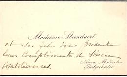 Visitekaartje - Carte Visite - Madame Standaert - Nieuw Malecote - Balgerhoeke - Visiting Cards