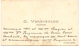 Visitekaartje - Carte Visite - Pastoor G. Versteylen - Lanklaar - Visiting Cards