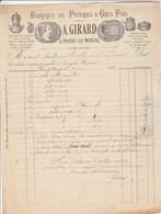 Facture Illustrée 9/5/1887 GIRARD Poterie Pots à Tabac ... PARAY Le Monial Saône Et Loire - 1800 – 1899