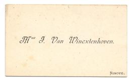 Visitekaartje - Carte Visite - Madame F. Van Wincxtenhoven - Ninove - Visiting Cards