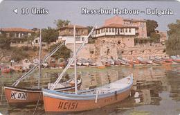 BULGARIA - GPT- Nessebur Harbour, Betkom Phonecard 1st Issue, 10 Units, CN :1BULB, Tirage 15.000, 06/90, Used - Bulgarie