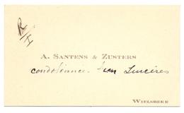 Visitekaartje - Carte Visite - A. Santens - Wielsbeke - Visiting Cards