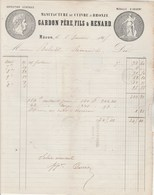 Facture Illustrée 5/1/1865 GARDON & RENARD Manufacture Cuivre Et Bronze MÂCON Saône Et Loire à Romanèche - 1800 – 1899